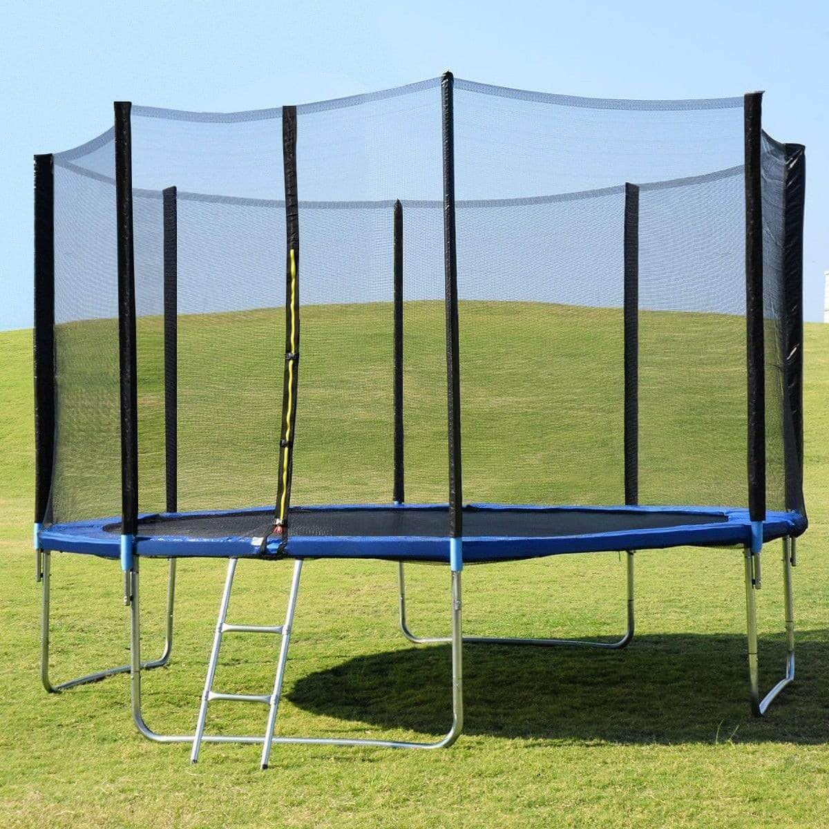 14' Trampoline Combo - Safety Enclosure Net Spring Pad & Ladder