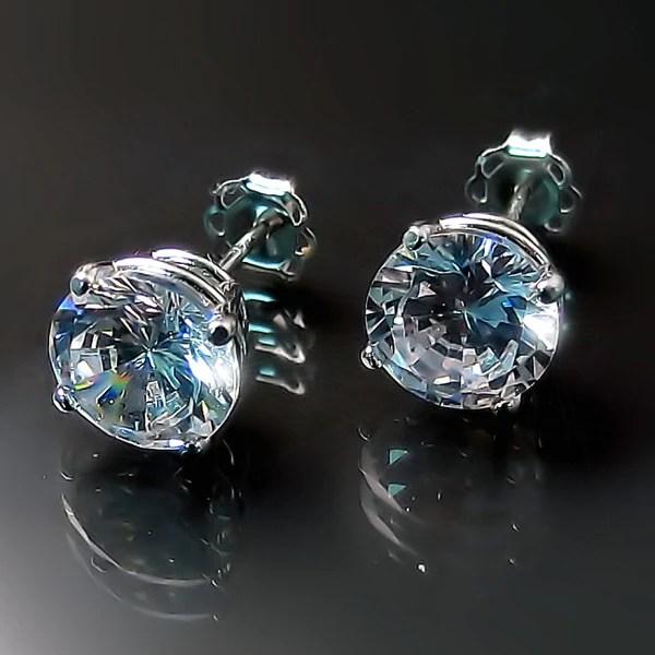 Imitation Diamond Solitaire Stud Earrings  Zoran Designs