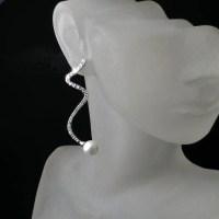 Modern Bridal Statement Earrings - Zoran Designs Jewelry
