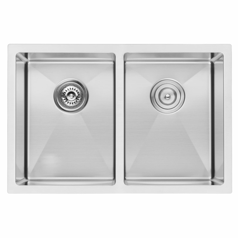 27 kitchen sink kohler faucets bai 1224 handmade stainless steel double bowl undermount 16 gauge megabai