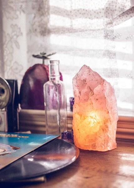 Rough Rose Quartz Lamp By Soulmakes
