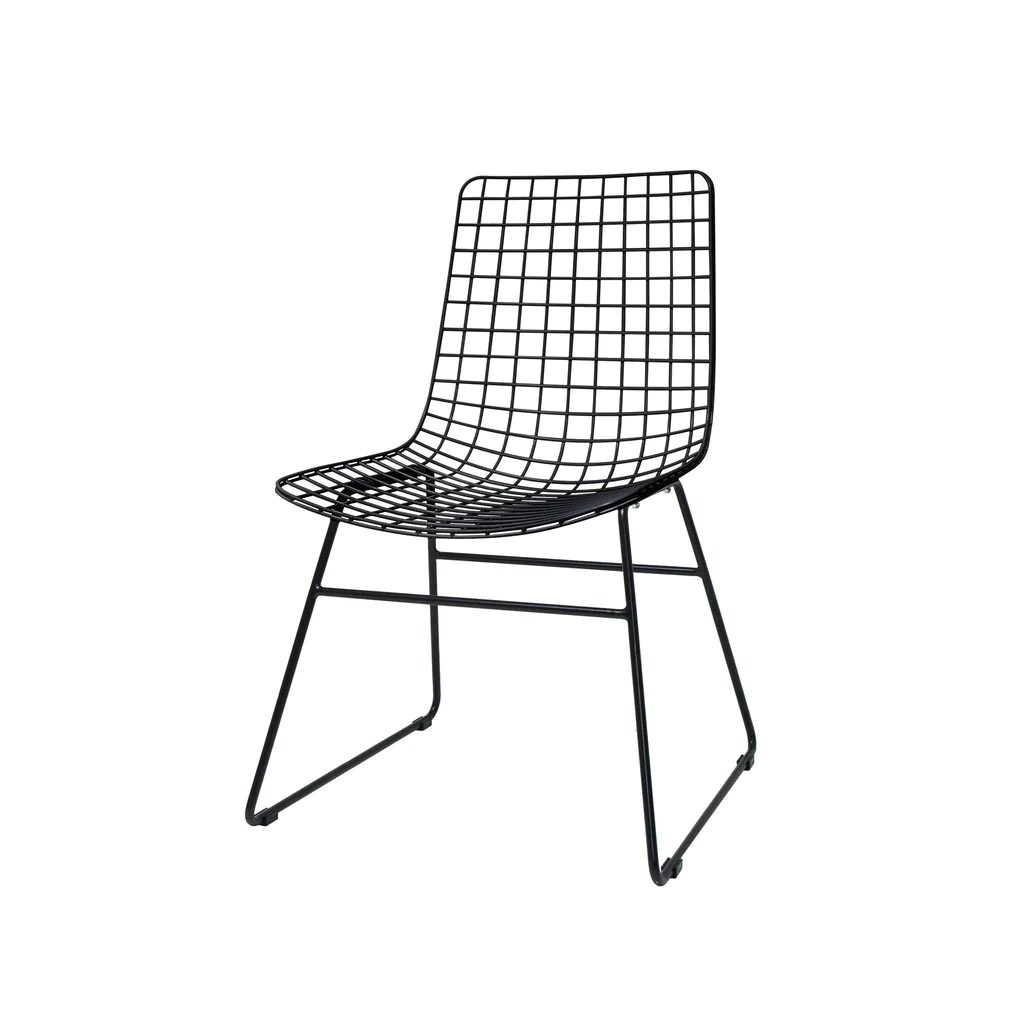 Black Wire Chair Chair Black Wire Dining Chair By Hk Living