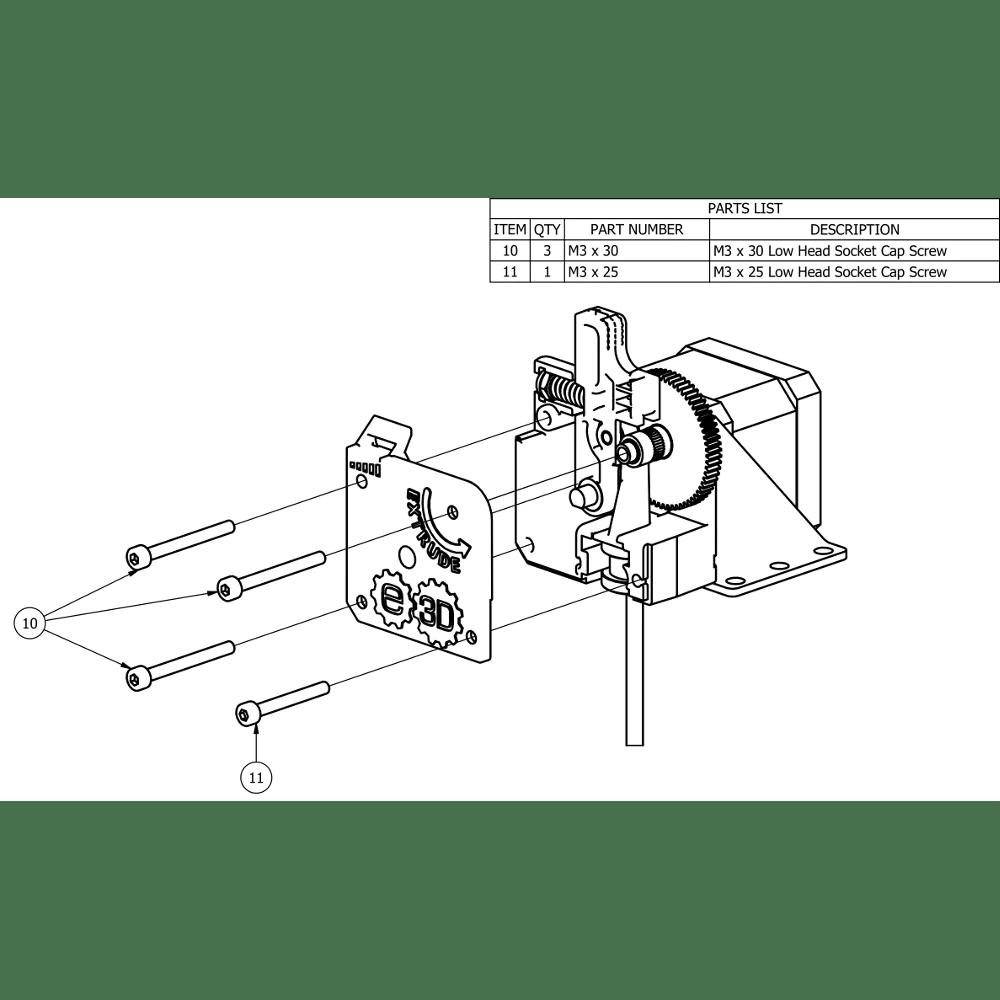 hight resolution of  e3d titan extruder idler arm