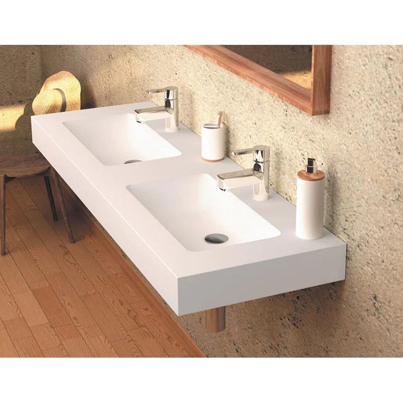 Vasque Double Suspendue En Solid Surface Cardiff Muro Le Monde Du Bain