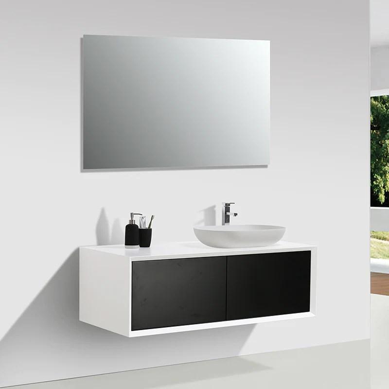 Meuble Salle De Bain Double Vasque PALIO 120 Cm Blanc