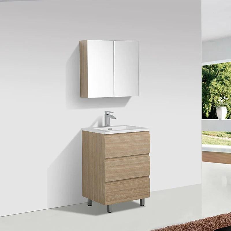 Meuble Salle De Bain Design Simple Vasque Verona Largeur 60 Cm Chene Le Monde Du Bain