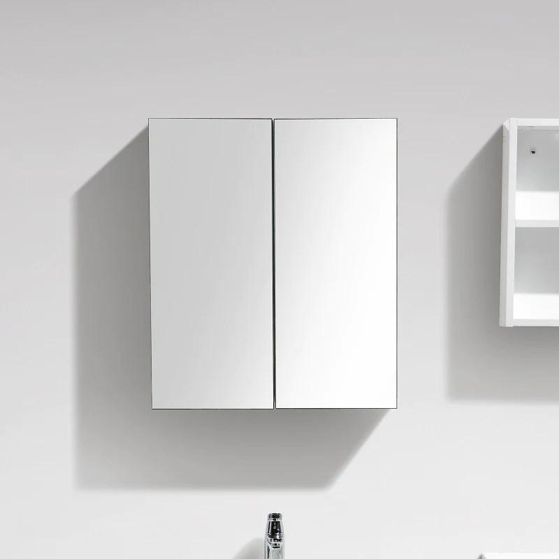 Armoire De Toilette Bloc Miroir Siena Largeur 60 Cm Blanc Laque Le Monde Du Bain