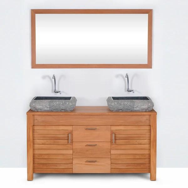 Meuble Salle De Bain 140 Cm Double Vasque Sur Pied Bright Shadow Online