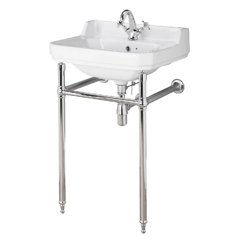lavabo retro abbott 50 cm sur console