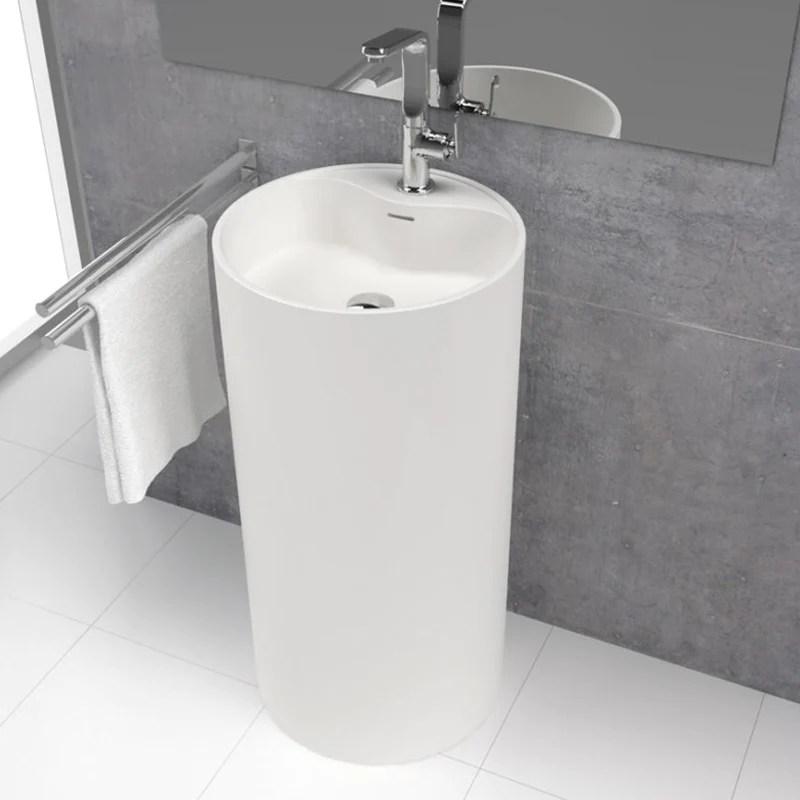 lavabo colonne design vistabella o45 cm en solid surface