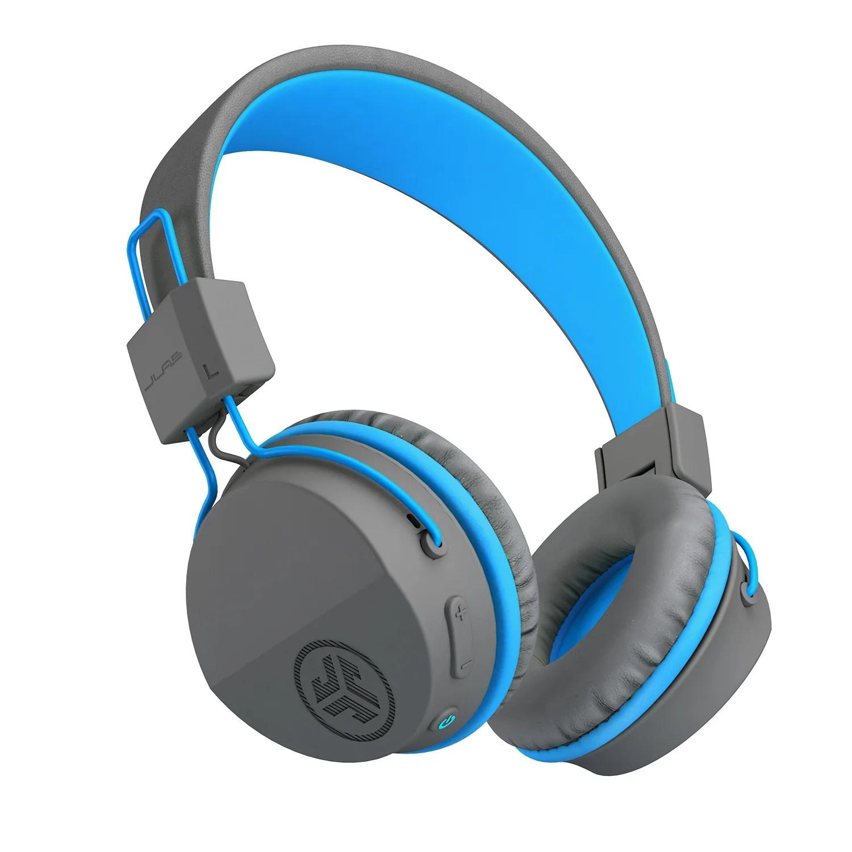 medium resolution of neon bluetooth wireless on ear headphones in blue