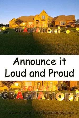 graduation yard signs decoration