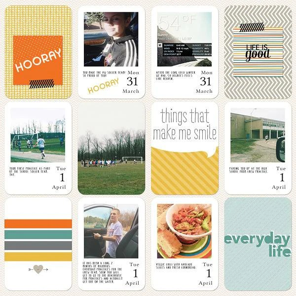 Digital Project Life by Jenn McCabe Stampin' Up Happiness Is