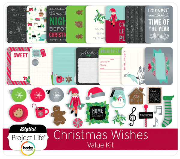 Digital Project Life Christmas Wishes Value Kit
