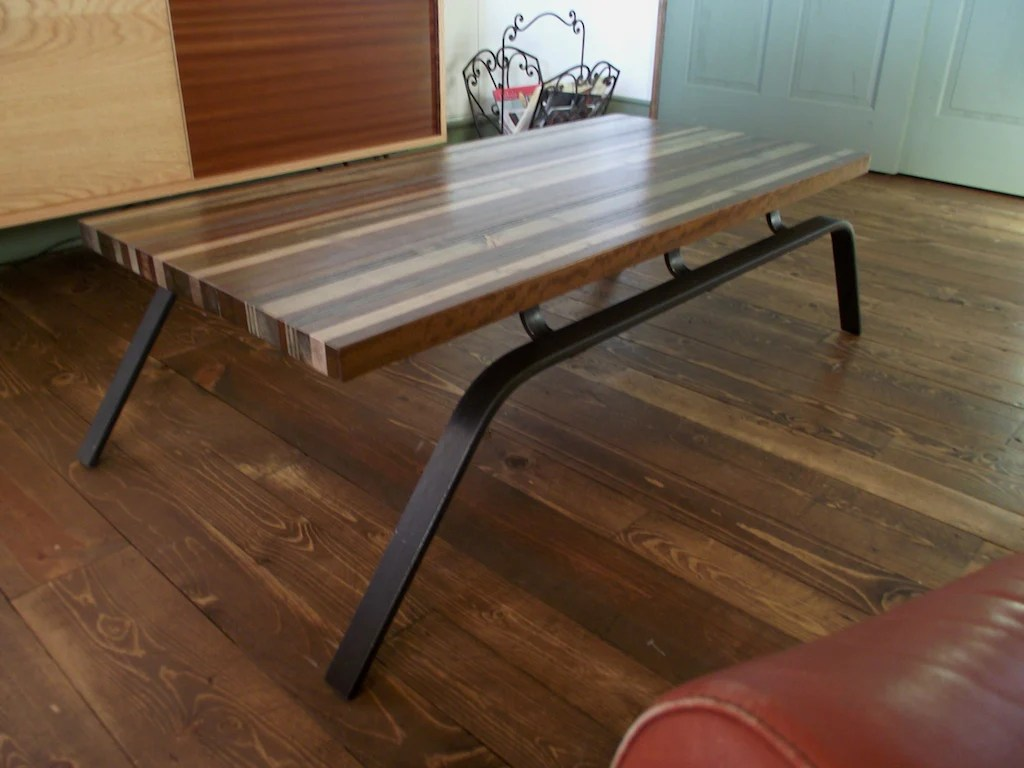 Scrapwood sled coffee table  onefortythree