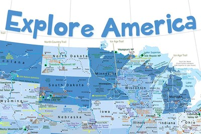 Southern states and capitals learn with flashcards, games, and more — for free. Usa Map For Kids Blue Edition Geojango Maps