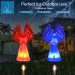 Ideal Gifts Waterproof Plastic With Color Changing Led Solar Garden Lights For Home Party 2 Pack Hanging Solar Lights Outdoor Christmas Decorations Path Lights