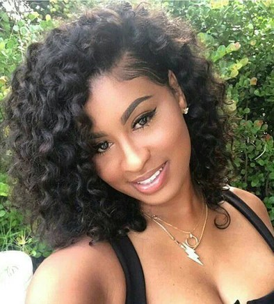 Lace Wig Black Wigs Natural Color African American Short Haircuts