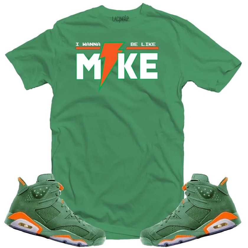 Lacing -jordan 6 Green Gatorade Mike Tee