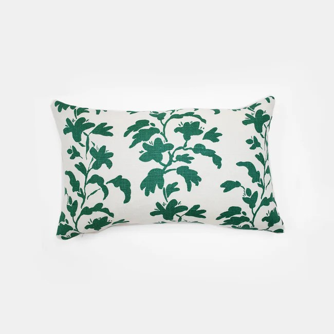 green vine pillow lumbar