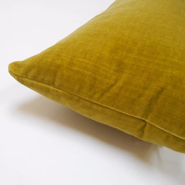 chartreuse velvet pillow lumbar
