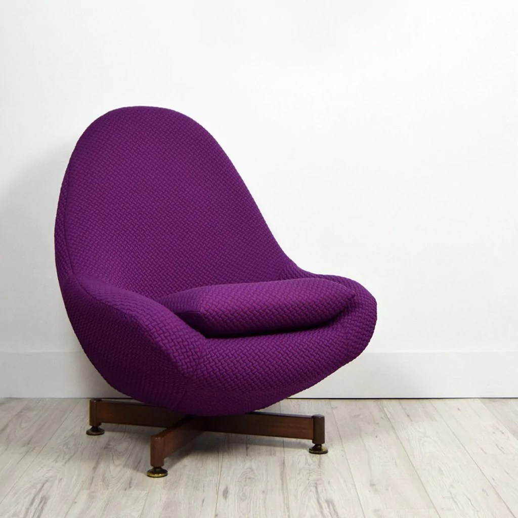 Pink Egg Chair Retro Greaves Thomas Swivel Chair