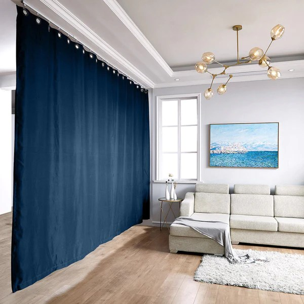 ceiling track room divider curtain kit