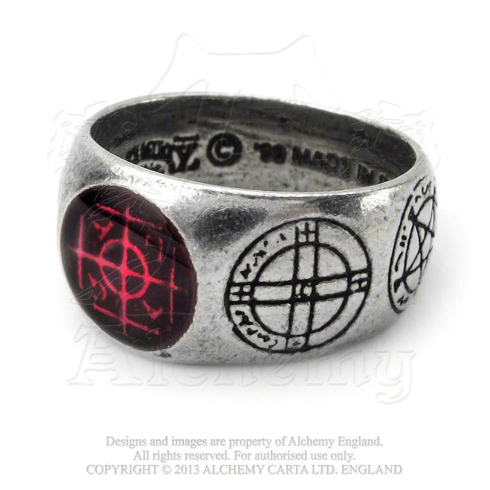 Alchemy Gothic Agla Magic Talisman Ring - Medieval Sigil