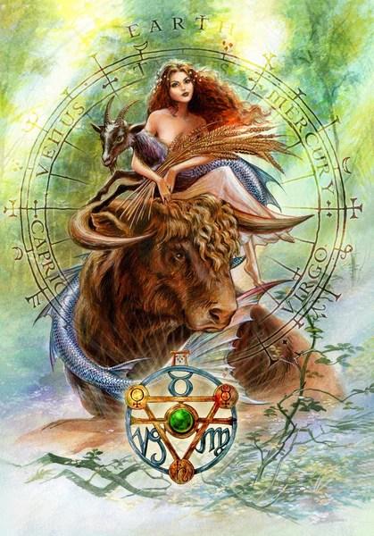 Elemental Earth Talisman And Card Gift Set Venus Mercury