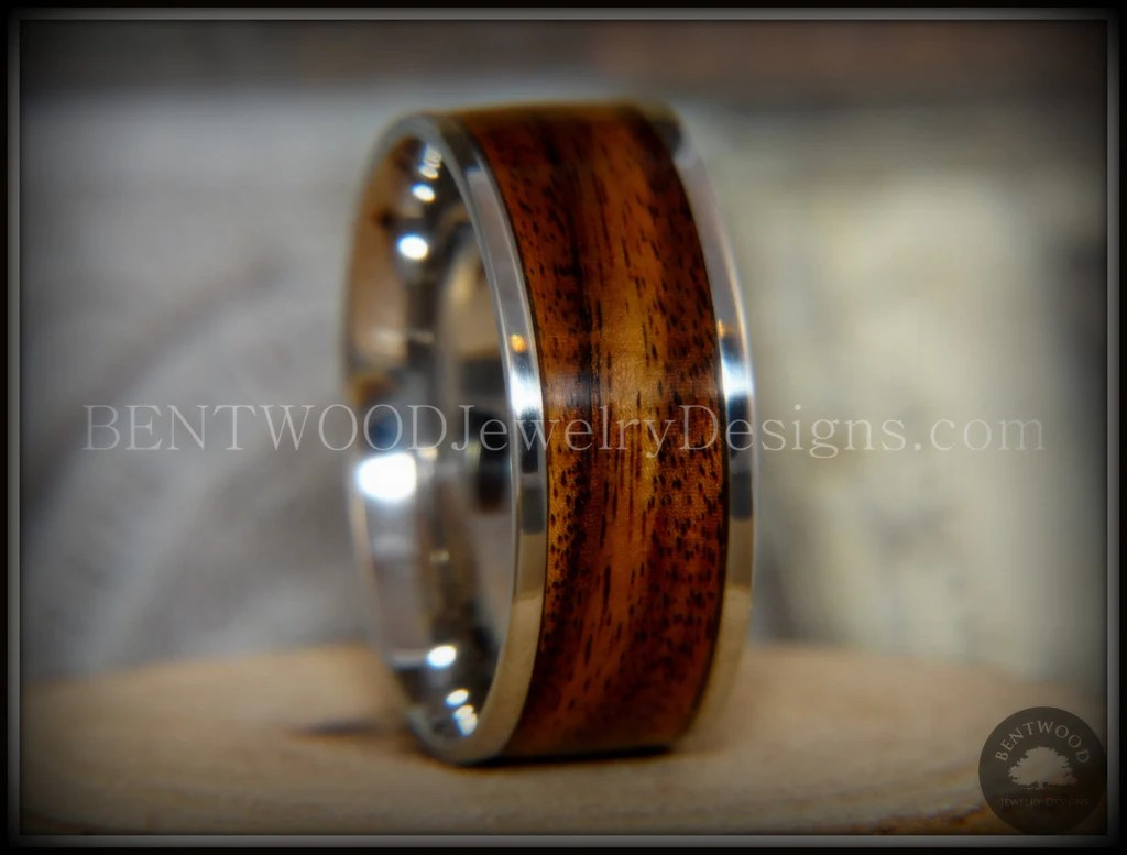 Bentwood Rings Rosewood Wooden Rings Stainless Steel