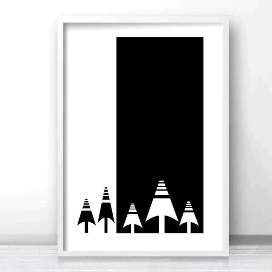 abstract nordic minimalist wall