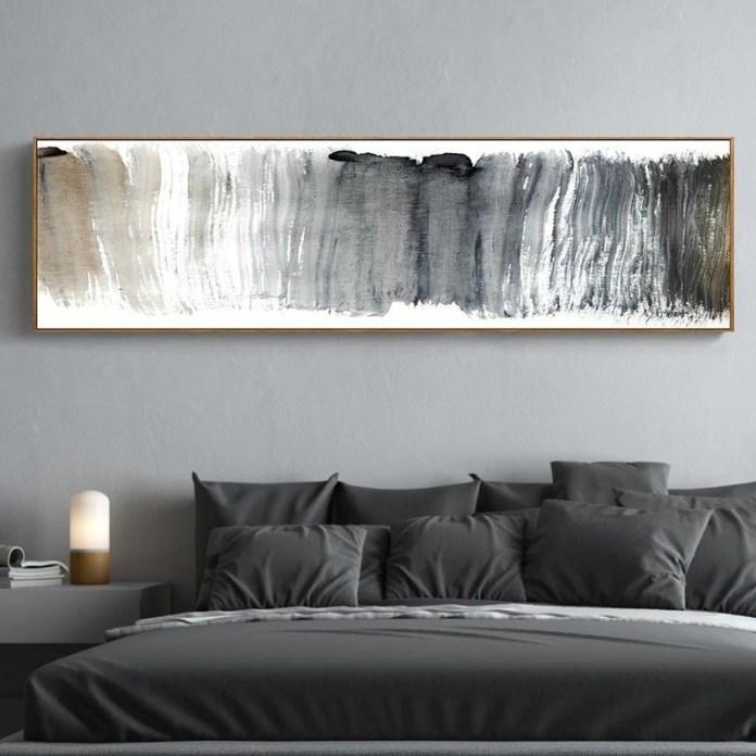 Abstract Panoramic Wall Art Shades Of Gray Black White Fine Art Canvas Nordicwallart Com