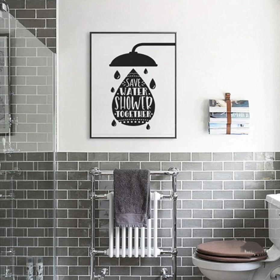humorous bathroom poster art