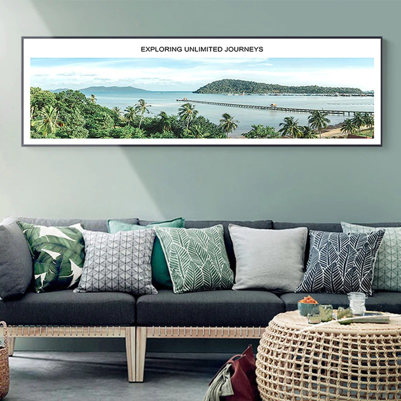 modern living room wall art small round table for inspirational landscape travel poster giclee canvas nordicwallart com