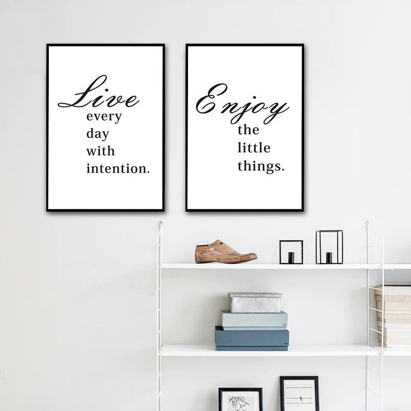 Inspirational Quotes For Life Posters Minimalist Modern ...