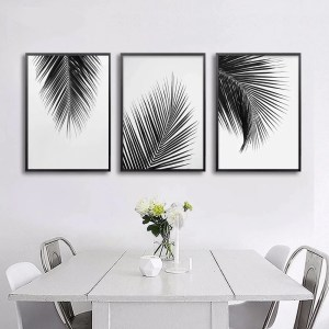 simple minimalist canvas prints living posters palm tropical leaves scandinavian fine interior paintings painting nordicwallart abstract sea bremmatic tree