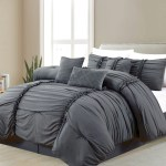 Casa Platino 7 Piece Comforter Set Bed In A Bag Queen Size Prem
