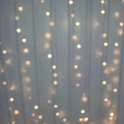 Diy Organza Chair Covers Crushed Velvet Kitchen Warm White Led Fairy Light Curtain 6m X 3m - My Wedding Store