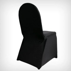 Lycra Chair Covers Nz Wheelchair Mario Cover Black Straight Front My Wedding Store