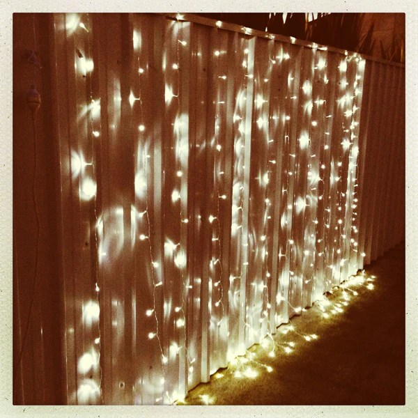 White LED Fairy Light Curtain 3m x 3m  My Wedding Store
