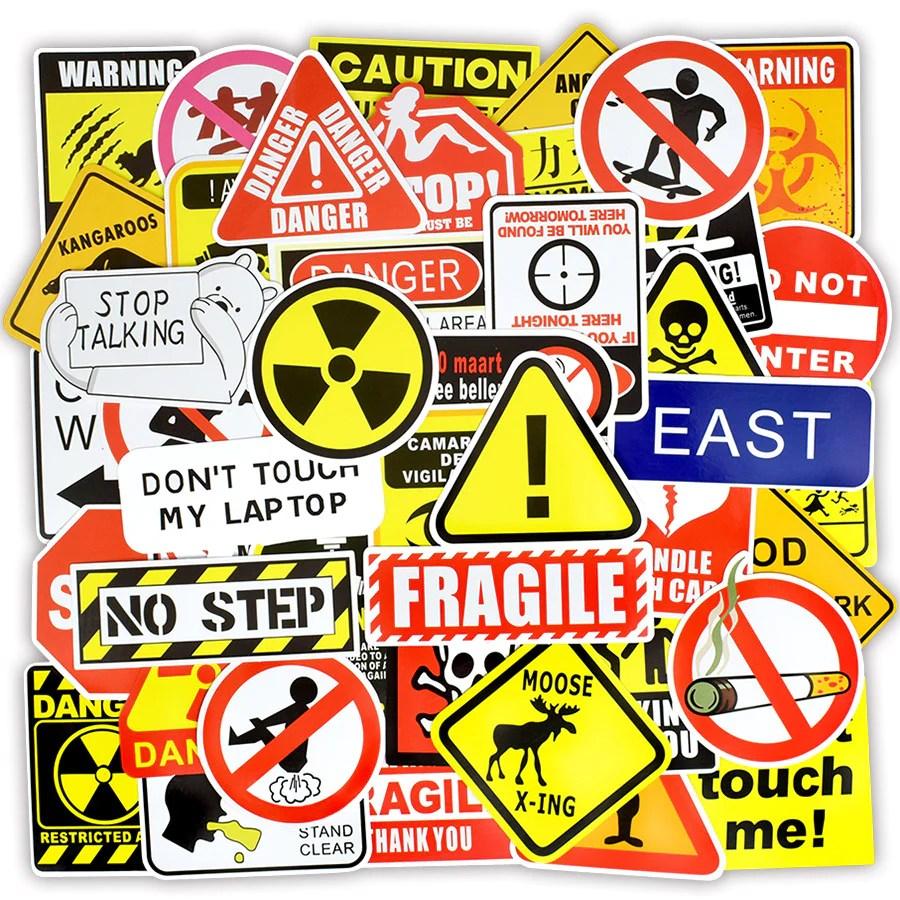 50 pcs warning stickers