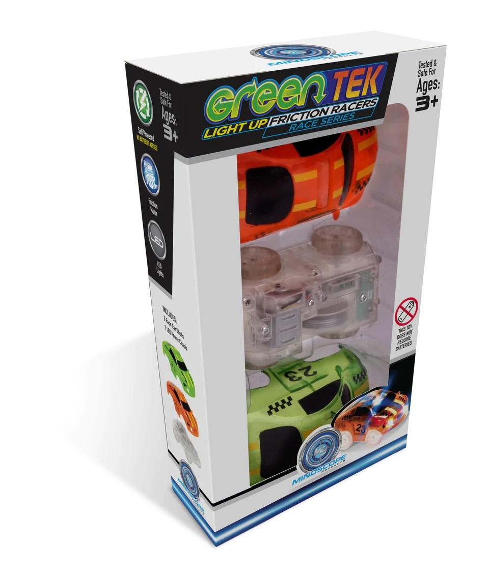 greentek light up friction vehicles race