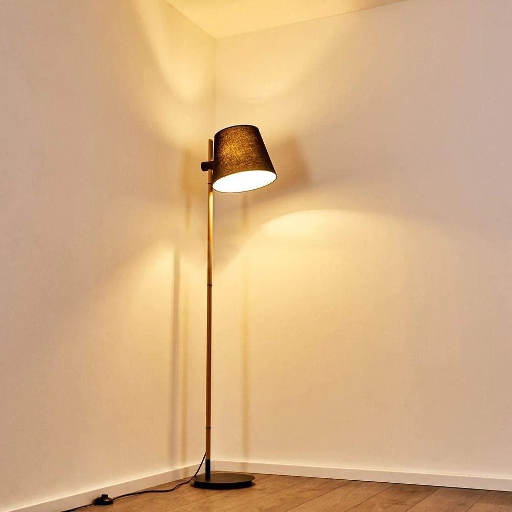 lampadaire salon industriel bois scandinave