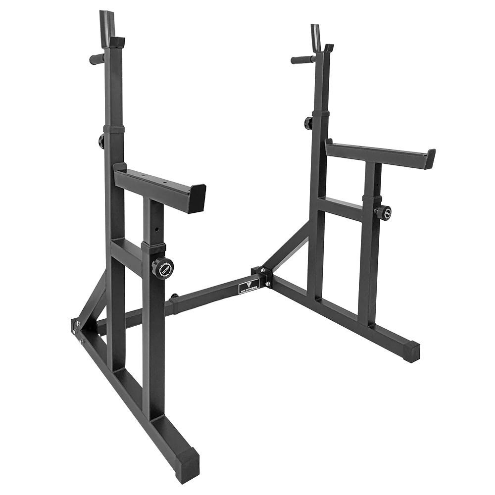 hit fitness adjustable squat rack essential