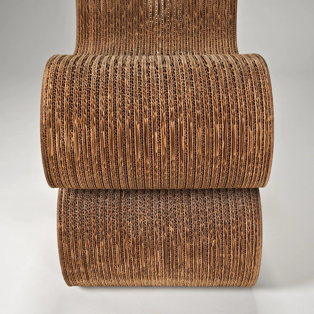 frank gehry cardboard chairs dining room chair slip covers uk the modern archive wiggle side by for bloomingdale s sold