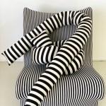 Cotton Striped Knot Pillow Home Union Nyc