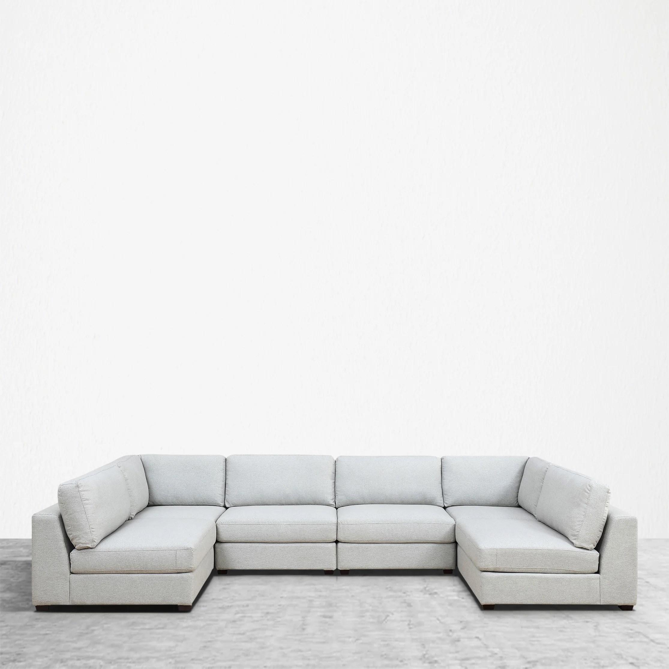 6 piece modular sectional sofa mattress pad for queen sleeper reed 6b deep seating
