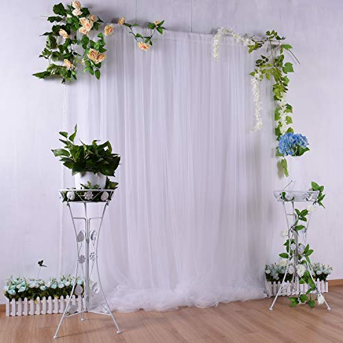 white backdrop curtain for baby shower party bridal photography drape backdrop for engagement birthday wedding 5ft x7ft white curtains tulle backdrop online at ibhejo com
