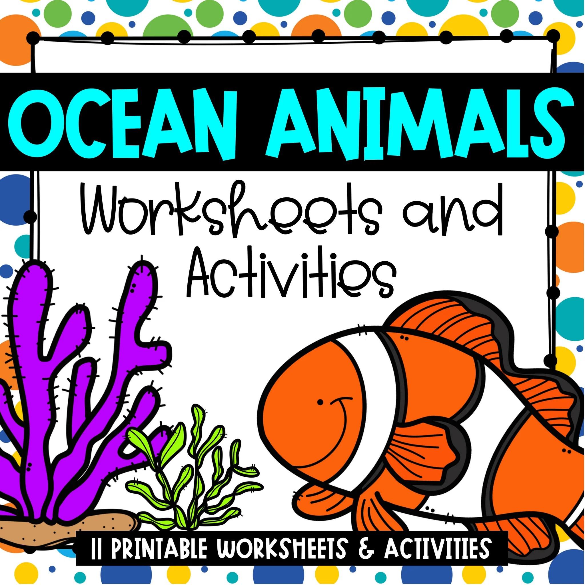 medium resolution of Ocean Animals Worksheets and Activities – Spark ESL