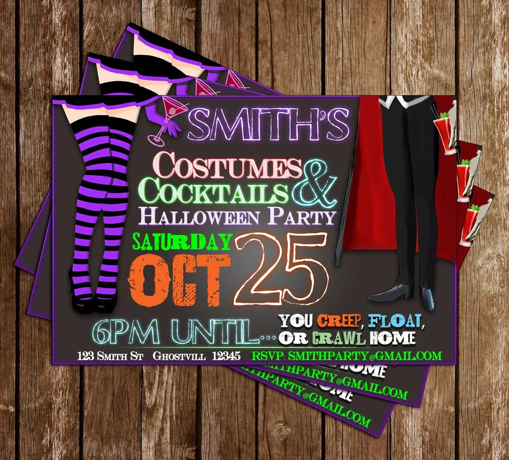 Many of us put off planning a halloween costume only to realize suddenly that halloween is just days away. Novel Concept Designs Adult Costume Party Halloween Party Invitation